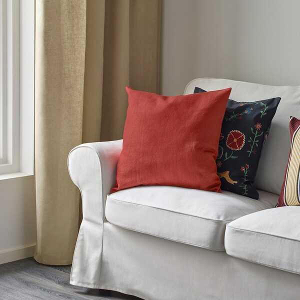 VIGDIS Kuddfodral, rödorange, 50x50 cm