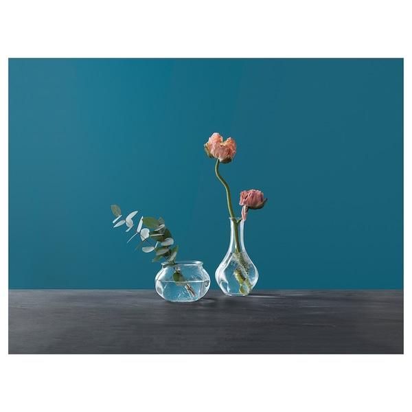 VILJESTARK Vas, klarglas, 8 cm