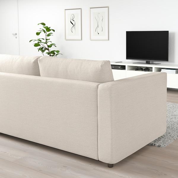 VIMLE 2-sitssoffa Gunnared beige 83 cm 68 cm 171 cm 98 cm 6 cm 15 cm 141 cm 55 cm 48 cm
