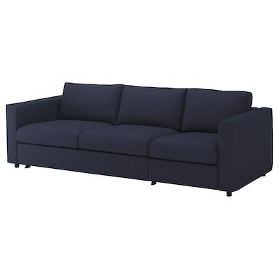 VIMLE 3-sits bäddsoffa, Orrsta svartblå