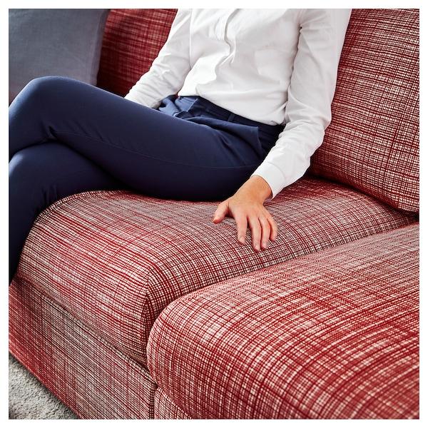 VIMLE 3-sitssoffa, med schäslong/Dalstorp flerfärgad