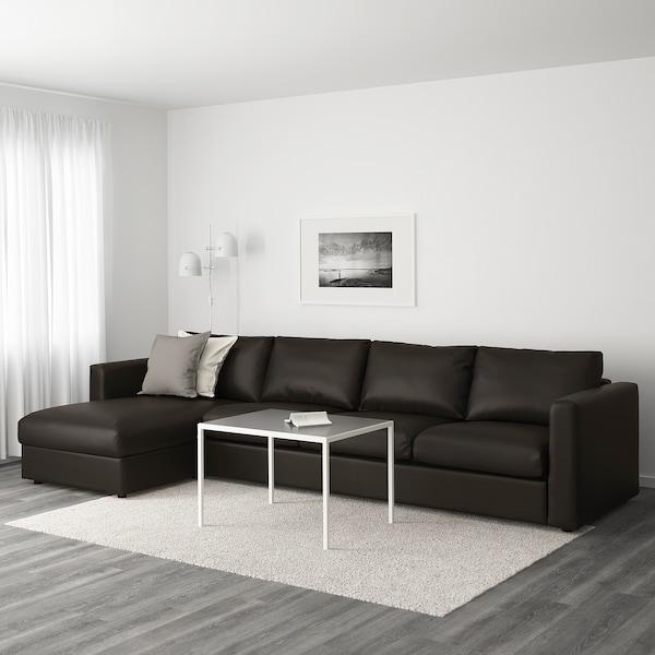 VIMLE 4-sitssoffa med schäslong/Farsta svart 80 cm 164 cm 322 cm 98 cm 125 cm 4 cm 15 cm 65 cm 292 cm 55 cm 45 cm