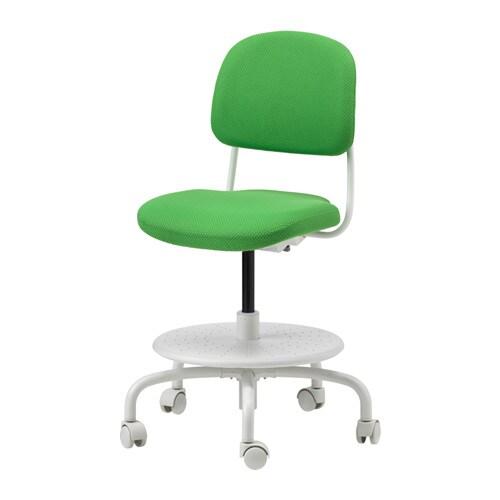 VIMUND Skrivbordsstol för barn klargrön IKEA