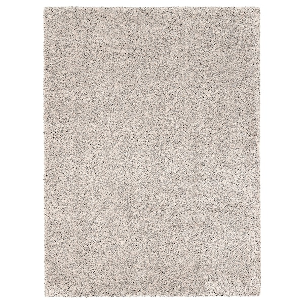 VINDUM Matta, lång lugg, vit, 200x270 cm