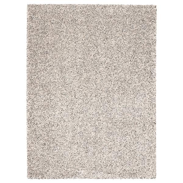 VINDUM Matta, lång lugg, vit, 170x230 cm