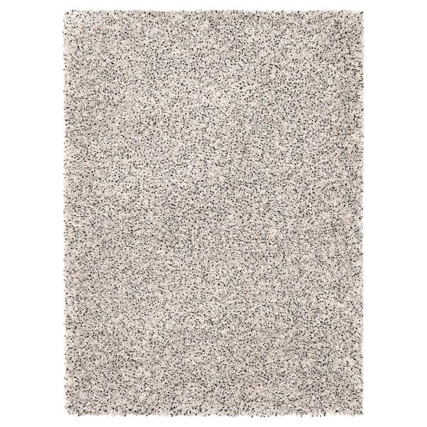 VINDUM Matta, lång lugg, vit, 133x180 cm