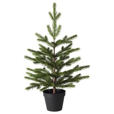 VINTER 2020 Konstgjord krukväxt, inom-/utomhus/julgran grön, 12 cm