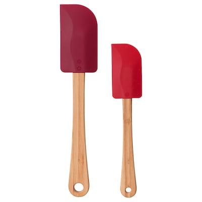 VINTER 2020 Slickepott, set om 2, bambu/silikon röd