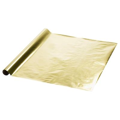 VINTER 2021 Presentpappersrulle, guldfärgad, 3x0.7 m