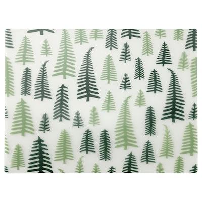 VINTER 2021 Tablett, trädmönster vit/grön, 40x30 cm