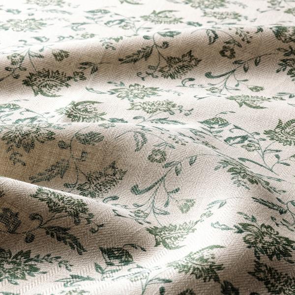 VITNOPPA Kökshandduk, blommönster/grön, 45x60 cm