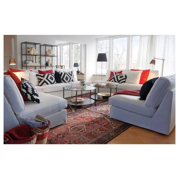 VITTSJÖ soffbord svartbrun/glas 45 cm 75 cm