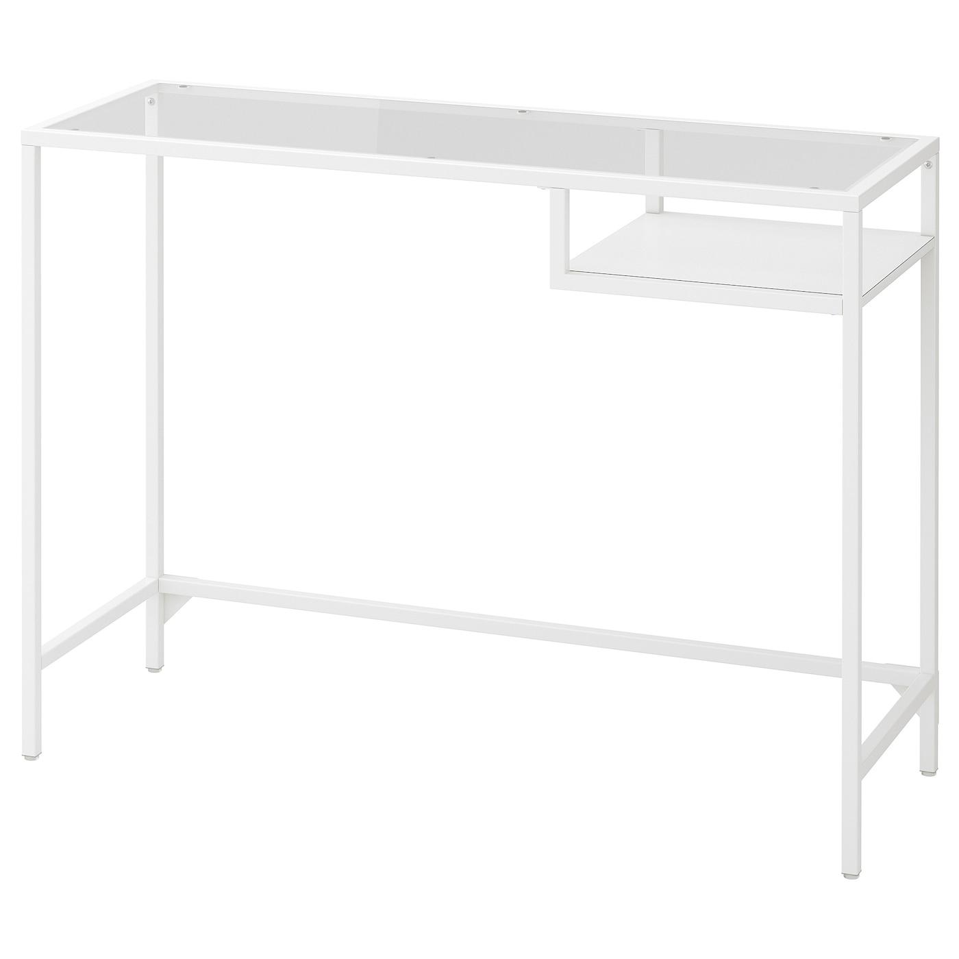 VITTSJÖ Laptopbord, svartbrun, glas, 100x36 cm IKEA