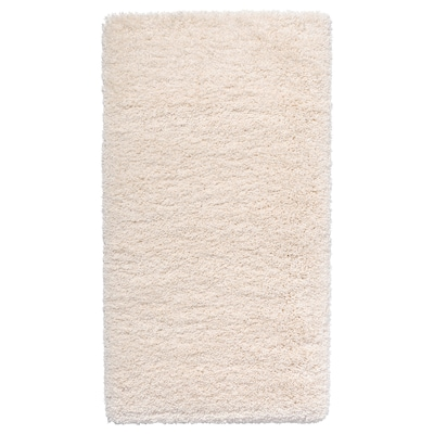 VOLLERSLEV Matta, lång lugg, vit, 80x150 cm