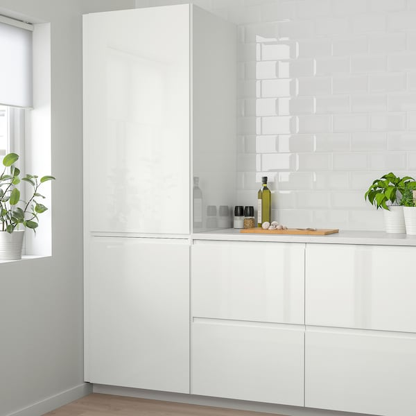VOXTORP Dörr, högglans vit, 40x120 cm