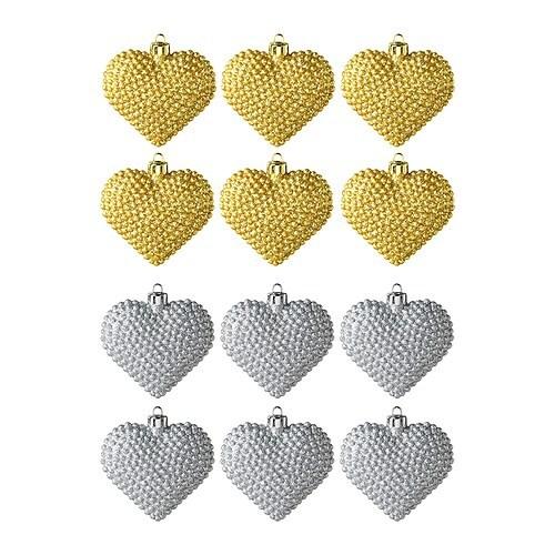 YRSNÖ Dekoration, hängande, hjärta, blandade färger Höjd: 10 cm