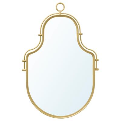 ÄNGABODA Mirror, gold-colour, 43x28 cm