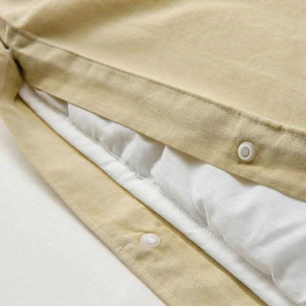 ÄNGSLILJA Duvet cover and 2 pillowcases, light beige-green, 240x220/50x80 cm