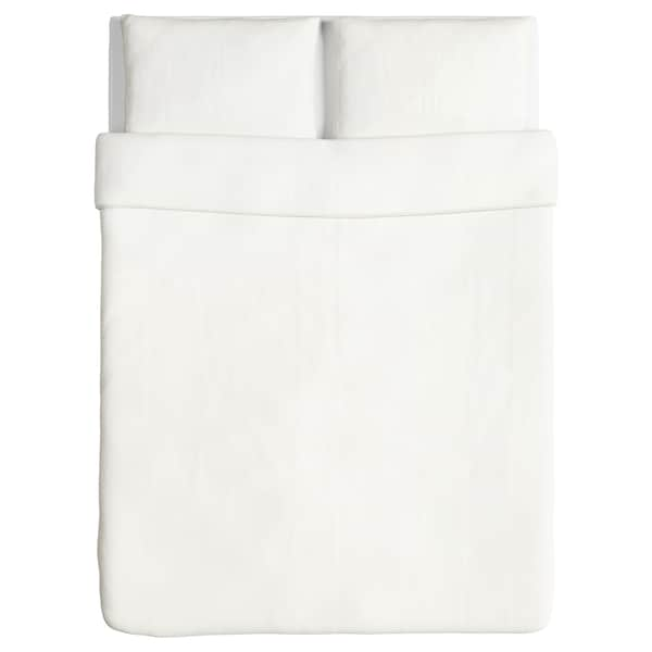 ÄNGSLILJA Duvet cover and 2 pillowcases, white, 200x200/50x80 cm