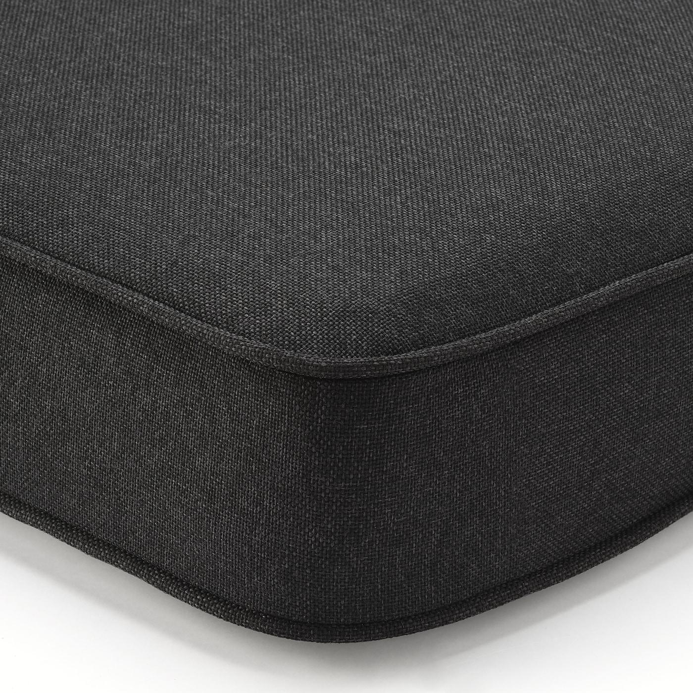 ÄPPLARÖ 3-seat modular sofa, outdoor, brown stained/Järpön/Duvholmen anthracite, 223x80x86 cm