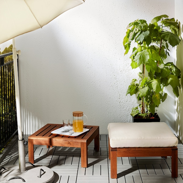 ÄPPLARÖ Table/stool section, outdoor, brown stained, 63x63 cm