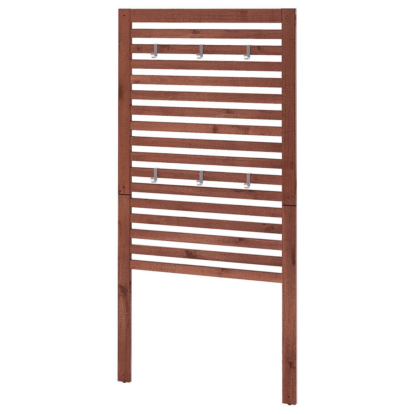 ÄPPLARÖ Wall panel, outdoor - brown stained 10x10 cm
