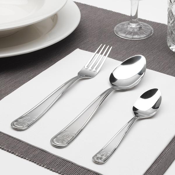 ÄTBART 18-piece cutlery set, stainless steel