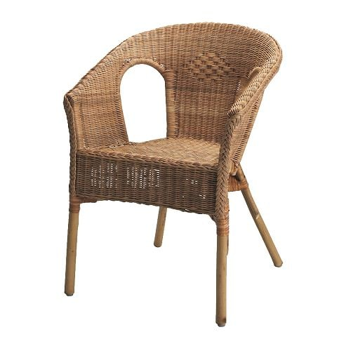 AGEN Chair IKEA Handwoven; each piece of furniture is unique.  Stackable chair; saves space when not in use.
