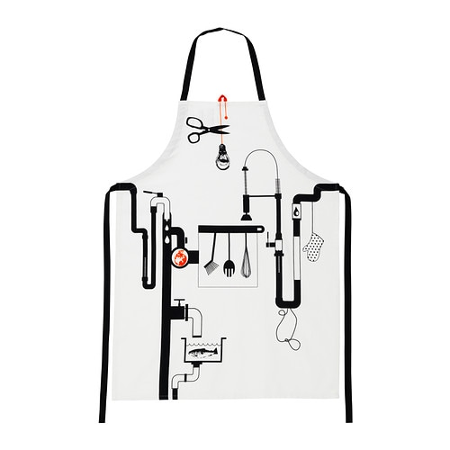 ÅGOT Apron IKEA Adjustable neck-band to fit everybody.