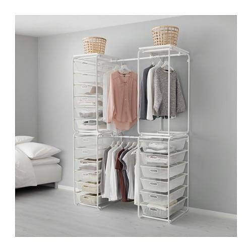 Begehbarer Kleiderschrank Ikea Algot ~  clothes & shoe storage system  ALGOT system Basket and frame storage