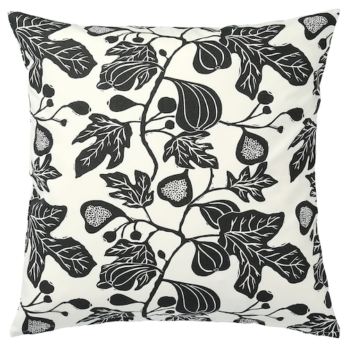 ALPKLÖVER cushion cover natural/dark grey 50 cm 50 cm