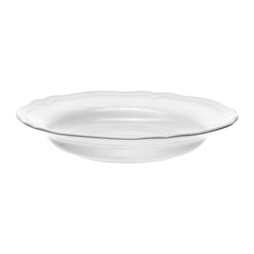 ARV Deep plate IKEA Dinnerware that combines a simple, rustic design with a soft ruffled edge.