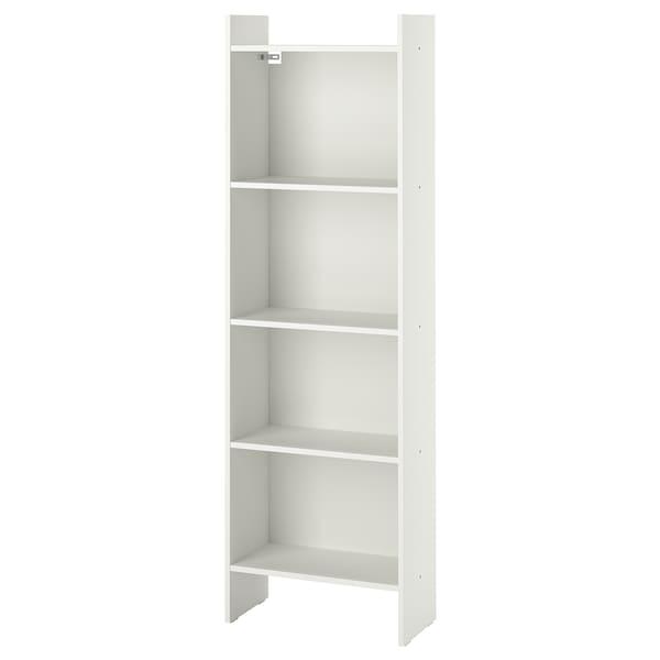 BAGGEBO Bookcase, white, 50x25x160 cm