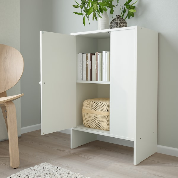 BAGGEBO Cabinet with door, white, 50x30x80 cm