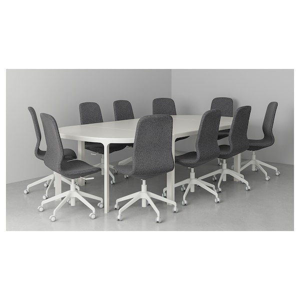 BEKANT Conference table, white, 280x140 cm