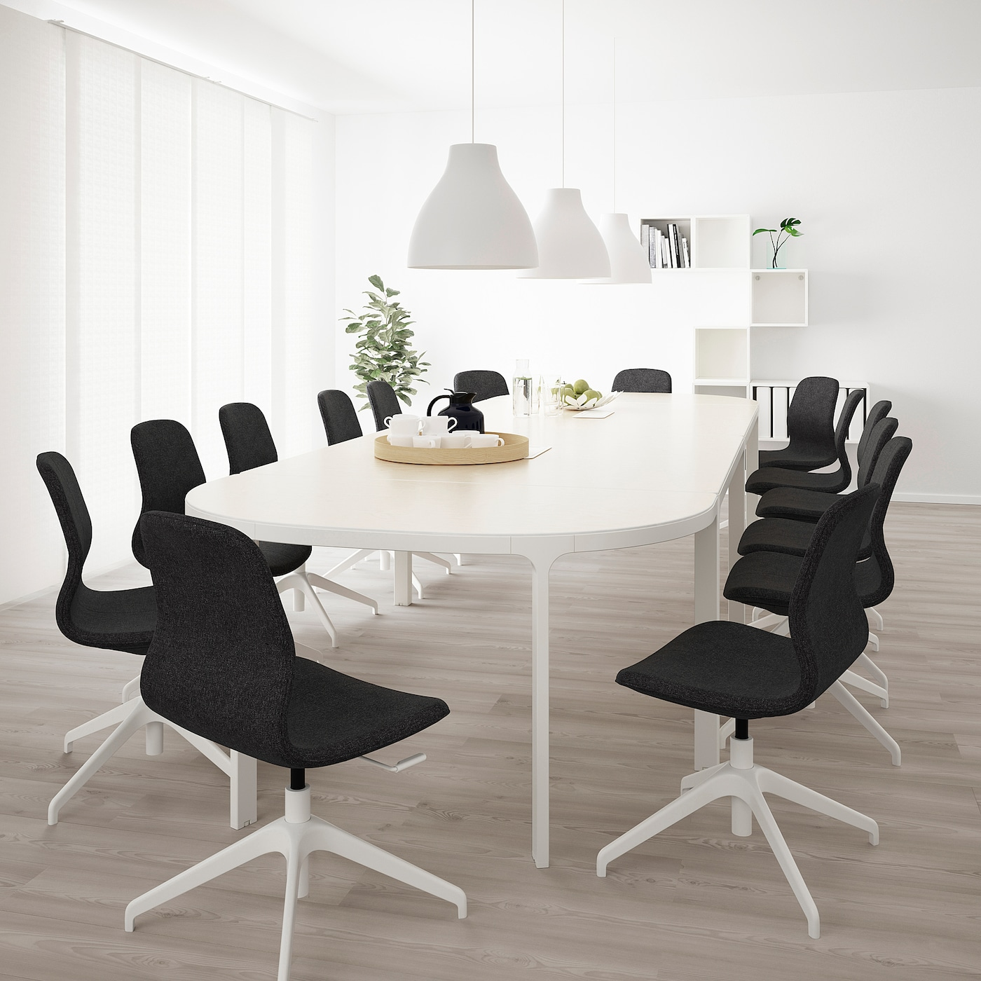 BEKANT Conference table, white, 420x140 cm