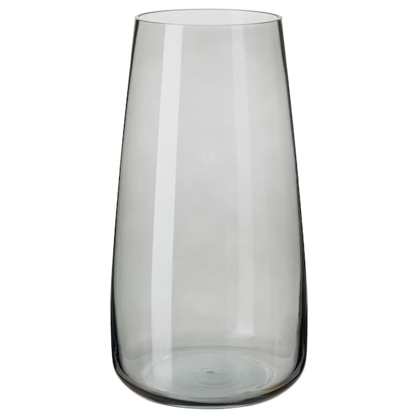 BERÄKNA Vase, light grey, 30 cm