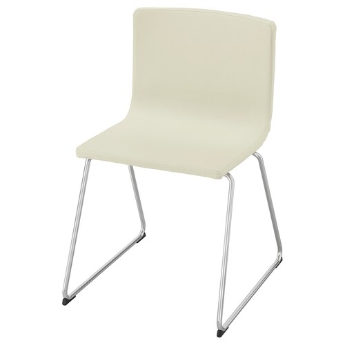 BERNHARD chair chrome-plated/Mjuk white 110 kg 49 cm 50 cm 77 cm 45 cm 40 cm 47 cm