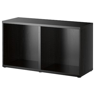 BESTÅ Frame, black-brown, 120x40x64 cm