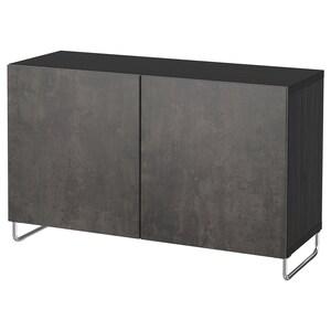 Colour: Black-brown kallviken/sularp/dark grey concrete effect.