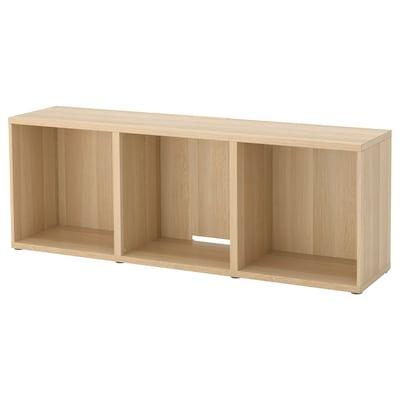 BESTÅ TV bench, white stained oak effect, 180x40x64 cm