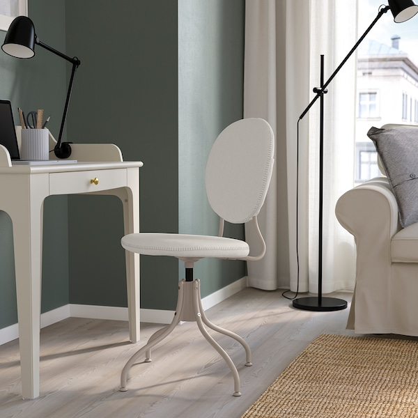 BJÖRKBERGET Swivel chair, Idekulla beige