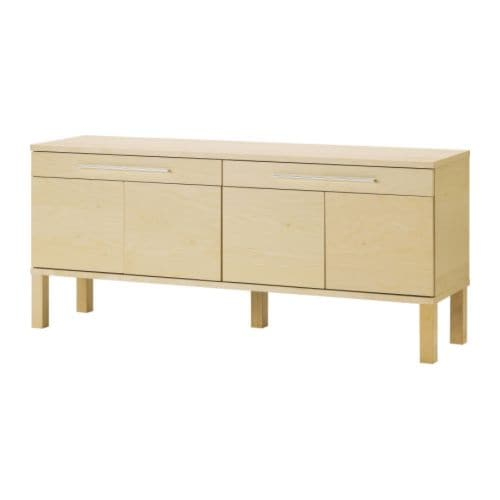 BJURSTA Sideboard IKEA The doors have no knobs or handles, but open by a light pressure.