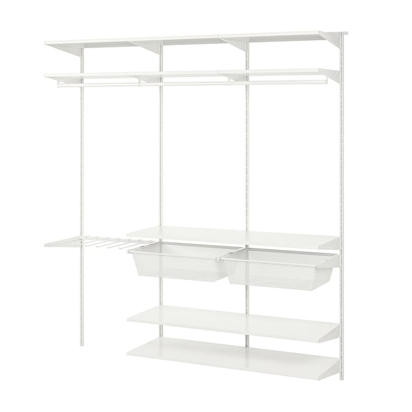 BOAXEL 3 sections, white, 187x40x201 cm