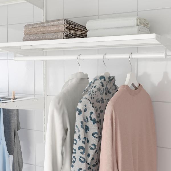 BOAXEL Laundry combination, white/metal, 227x40x101 cm