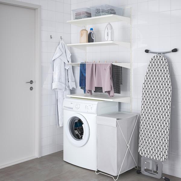 BOAXEL Laundry combination, white, 82x40x201 cm