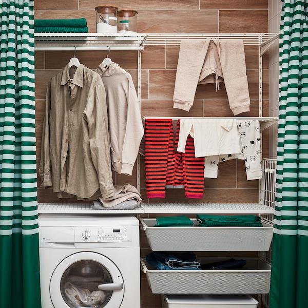 BOAXEL Laundry combination, white, 165x40x201 cm
