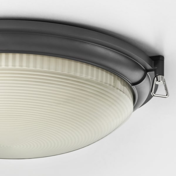 BOGSPRÖT LED ceiling lamp, anthracite, 36 cm