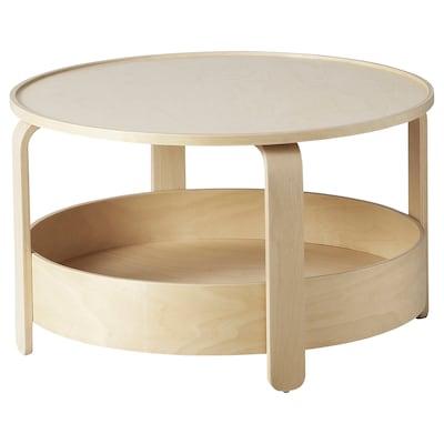 BORGEBY Coffee table, birch veneer, 70 cm