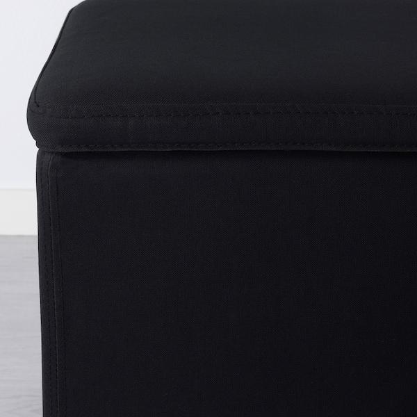 BOSNÄS Footstool with storage, Ransta black